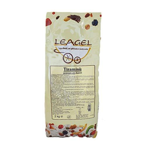 Leagel Preparato in polvere Prepared powder per Tiramisù Cf. 2 kg Pasta Crema Gelato Condimenti