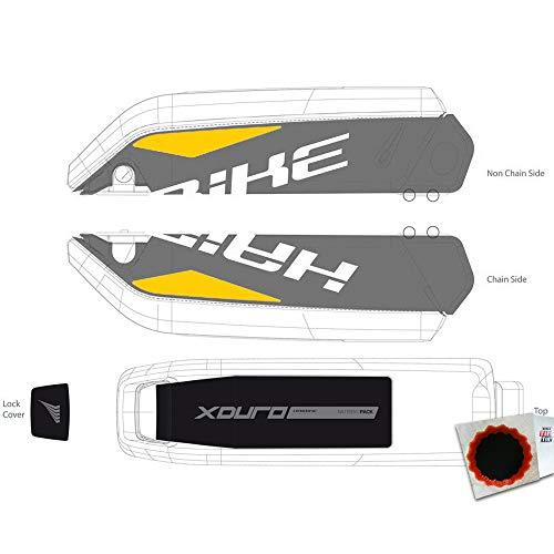 HAIBIKE Dekor E-Bike Xduro f. Batteriegehäuse 2015 Weiss gelb + Flicken