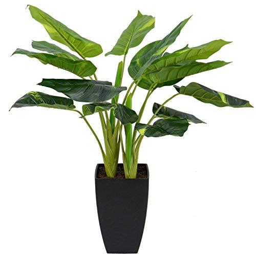 INtrenDU Künstliche Dekopflanze Palme Kunstpflanzen im Topf Kunstblumen Fensterdeko künstliche Pflanze (Variante 2)