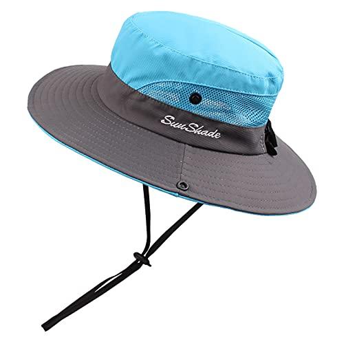 Sombrero de verano para niños y adultos, protección UV, gorro de verano, resistente al agua,para jardinería, viajes, senderismo, pesca, 2-6 años