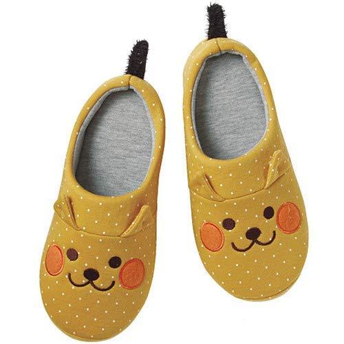 SLM-max Zapatillas Unisex,de Pokemon para Mujer Japonesa de Invierno Pikachu Gato Naranja Lindos Zapatos de casa mudos de algodón