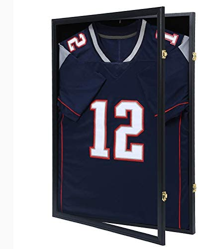 KCRasan Jersey Display Frame Case Large Lockable Frames Shadow Box with UV Protection for Baseball product image