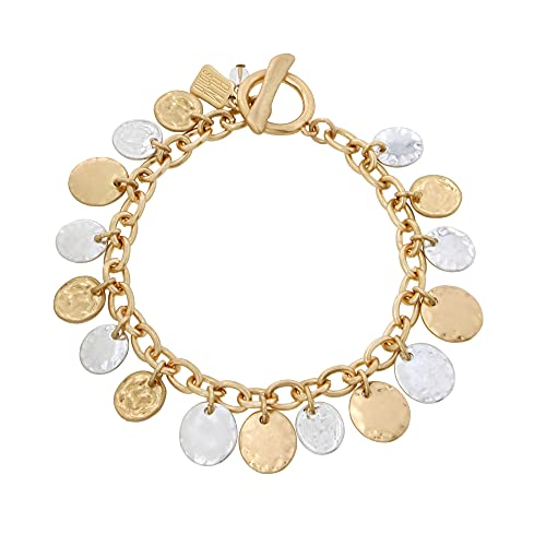 Robert Lee Morris Soho Shaky Coin Charm Bracelet, Two-Tone, One Size (351332TWO974)