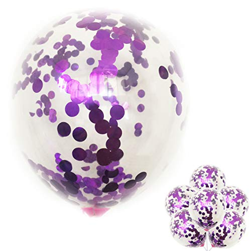 12-inch Transparent Balloon 20pcs Confetti Balloons Inflatable Wedding Supplies Party Wedding Decoration Purple