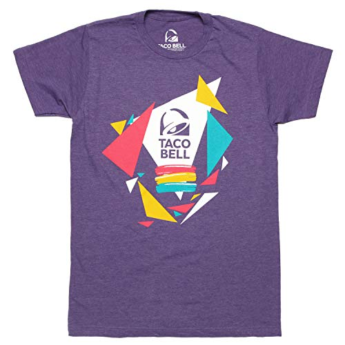 Taco Bell Confetti Logo Adult T-Shirt - Heather Purple (Large)