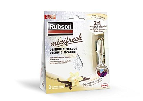 Rubson Minifresh Deshumificador para Armarios con Fragancia A Vainilla, Blanco