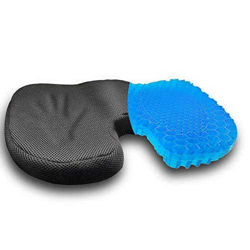 Cojín de asiento de gel en forma de U para silla de oficina Silla de comedor Cojines ergonómicos para asiento de coche Cojín de asiento ortopédico para aliviar el dolor de espalda
