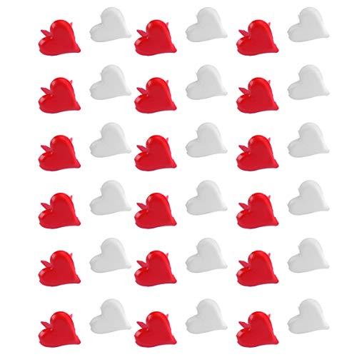 HEALLILY 100 Piezas Mini Clavitos Corazón Metal Scrapbooking Clavitos Artesanales Pasadores Divididos Sujetadores de Papel para Manualidades Bricolaje Tarjeta de Estampado 11Mm