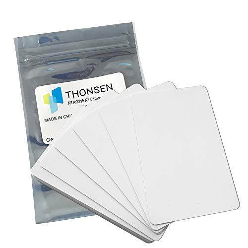 THONSEN 25pcs NTAG215 NFC Cards Work with TagMo and Amiibo for All NFC-Enabled Smartphones and Devices