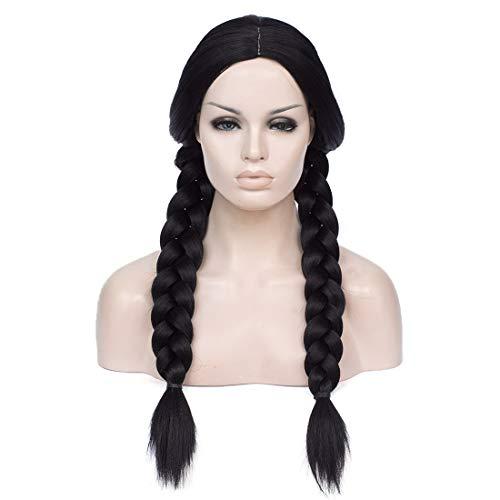 Cying Lin 28' Long Double Braid Wigs Costume Black...