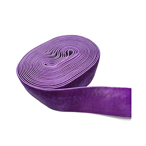 Purpura Sonline 25mm Cinta de Organza Borde Tejido Organza 50 Yarda 6 Colores Accesorio DIY de Boda