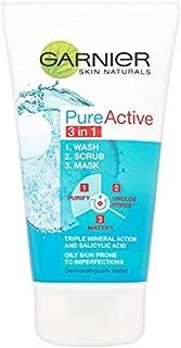 Garnier Pure Active 3-in-1 Wash, Scrub and Mask 150ml