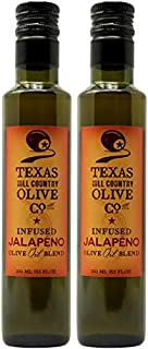 Texas Hill Country Olive Company Infused Olive Oils (JALAPENO Infused, 250ml (2 Pack))