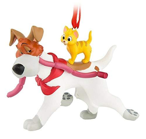 Disney Store Park 2019 Sketchbook Ornament Christmas Oliver & Company Dodger Dog & Cat