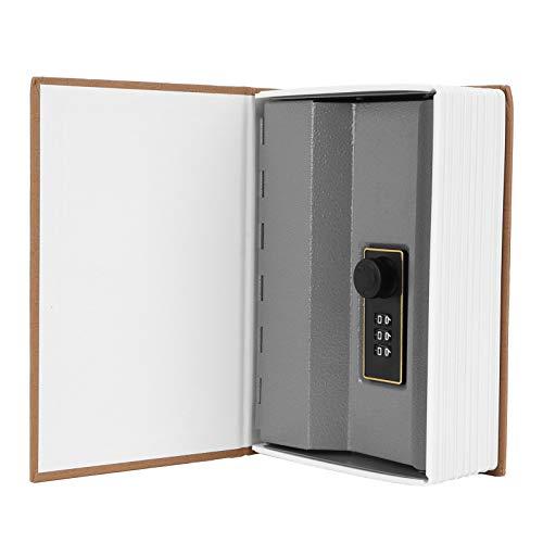 Uxsiya Caja de Almacenamiento Caja de Ahorro Mini Hucha con Cerradura de combinación de Seguridad Tarjetas de identificación Tarjetas bancarias Documentos para Ahorrar Monedas