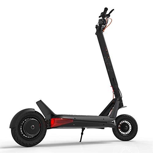 KUSAZ Scooter électrique Adulte, Scooter Urbain Pliable, Voiture électrique Tout-Terrain, Bloc-Piles au Lithium, Haute Endurance, Double système de freinage, 13-25.6Ah / 60V, 1000W-13AH.60v