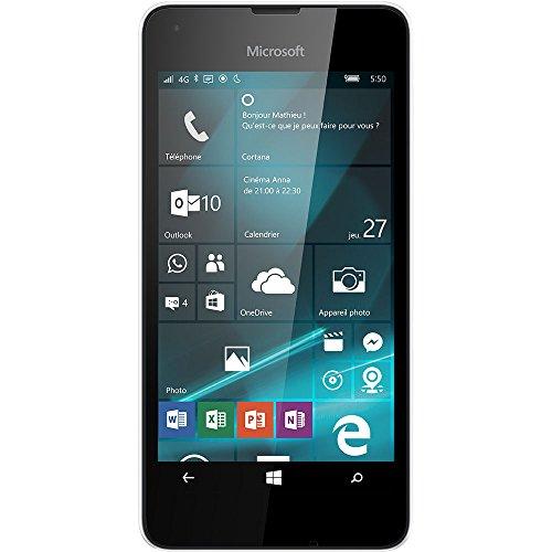 Microsoft Lumia 550 Smartphone débloqué 4G (Ecran : 4,7 pouces - 8 Go - Simple Nano-SIM - Windows Phone) Noir