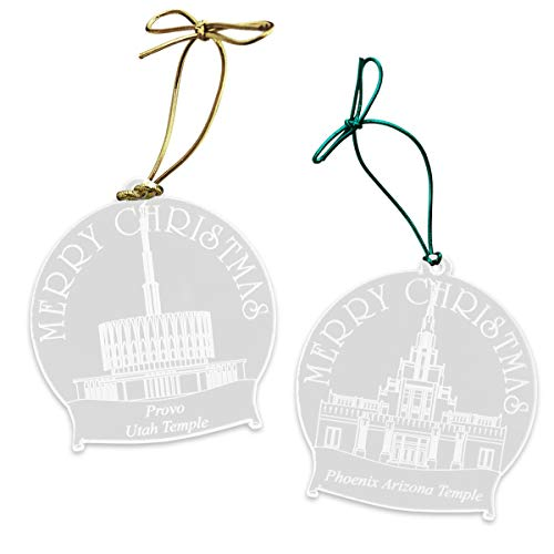 Naag Tag Inc. Customized Clear Acrylic LDS Temple Christmas Tree Ornaments - 20+ Temple Designs