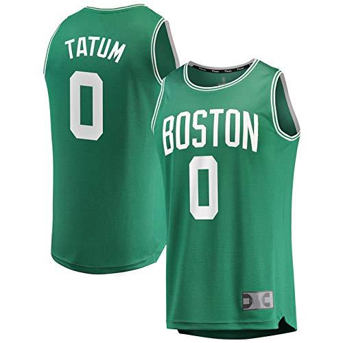 DFGHU Jersey de baloncesto para hombres Celtic Fashion Sportswear Tatum Player Jersey NO.0 Verde, verde, XL