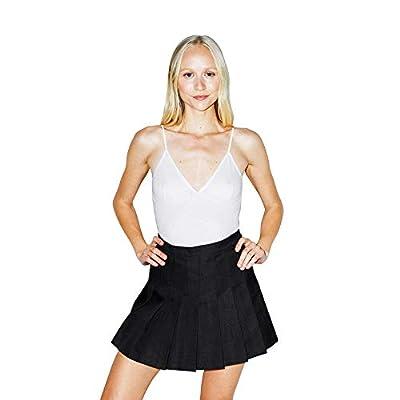 American Apparel Women's Gabardine Tennis Skirt, Black, Medium