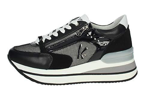 Keys K-4501 - Zapatillas deportivas para mujer, color negro, cordones + cremallera, color negro Size: 36 EU