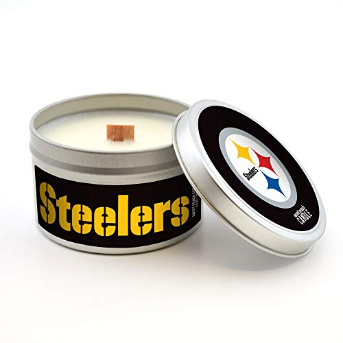 Worthy Promo NFL Pittsburgh Steelers Scented Candle (Sweet Peach) 5.8 Oz