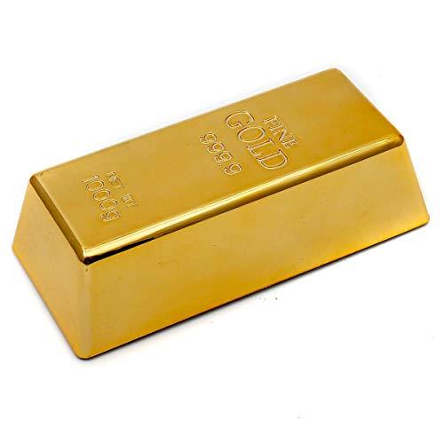 GOODS+GADGETS Goldbarren Türstopper und Briefbeschwerer - Lustiger Türversteller aus Fake Gold täuschend echt!
