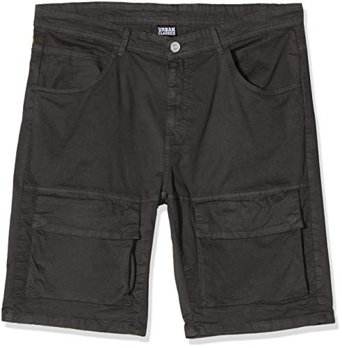 Urban Classics Herren Performance Cargo Shorts Funktions-Hose Cargos, Black, 30