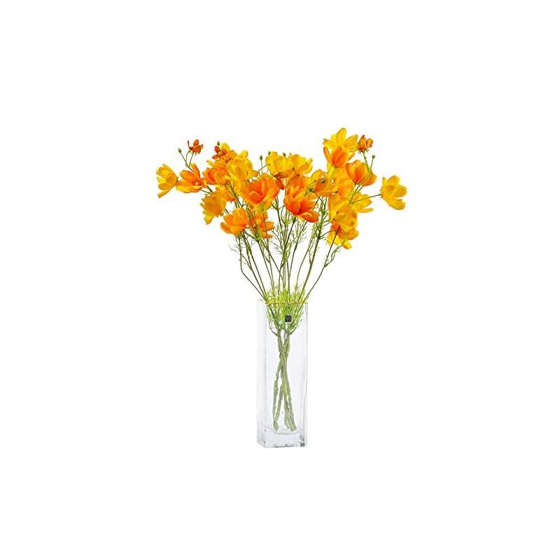 silk flower arrangements cn-knight artificial wild flower cosmos 6pcs long stem coreopsis for wedding bridal diy bouquet home décor centerpieces(orange)