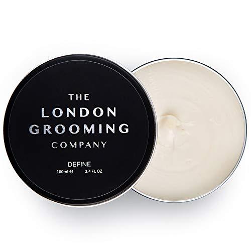 The London Grooming Company Crema Definidora para Hombres - Fijación Muy Fuerte y Acabado de Brillo Medio - 100 ml Producto de Cabello Basado en Agua - Madera de Oud
