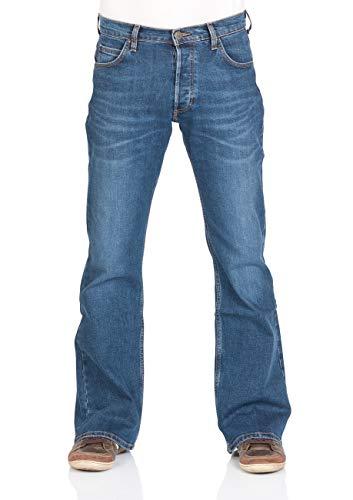 Lee Herren Jeans Jeanshose Denver Bootcut Denim Stretch Hose Baumwolle Blau w30-w44, Größe:W 44 L 32, Farbvariante:Aged Alva (HDBF)
