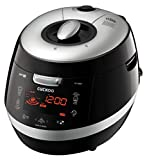 Cuckoo CRP-HY1083F 10 cup Induction Heating Pressure Rice Cooker – 18 built-in programs including Glutinous (White), GABA, Mixed, Sushi and more, Non-Stick Coating, Made in Korea, Black/Silver
