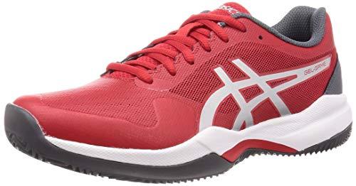ASICS Herren Gel-Game 7 Clay/Oc Tennisschuh, Classic Red/Pure Silver, 46 EU
