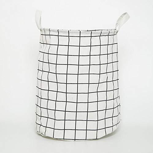 KANJJ-YU 1 UNID Cesta de lavadero Plegable Cesta de Picnic Cajas de Almacenamiento de Juguetes Cajas de Gran Capacidad Ropa Sucia Organizador Cesta Picnic (Color : White)