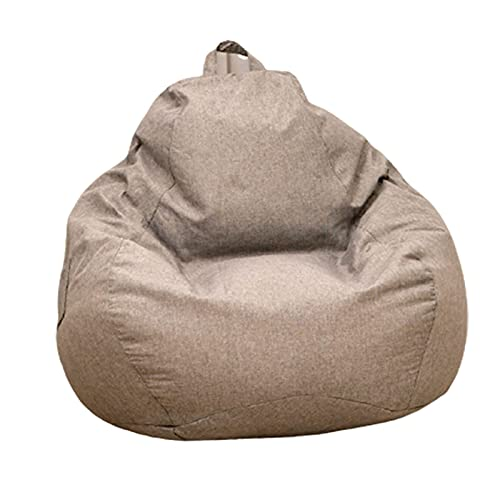 Soft Bean Bags Chairs For Kids, Teens, Adults - Fine Linenfabric Bag Chair - Dorm Room Comfy For Reading Game Meditating,Dark Gray,100 * 120cm