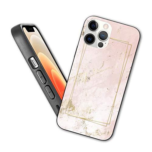 Compatible con iPhone 12 Pro Max funda rosa y dorado con textura de mármol fondo para iPhone 12 Pro Max TPU Case Design 6.7 pulgadas