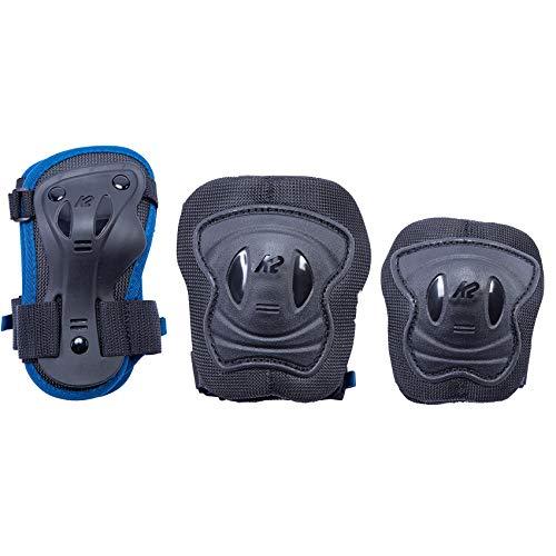 K2 Skates Jungen RAIDER PRO PAD SET, blue, XS (Knee: A:26-30cm B:23-27cm / Elbow: A:19-22cm Wrist: A:16-19cm B:13-15cm)