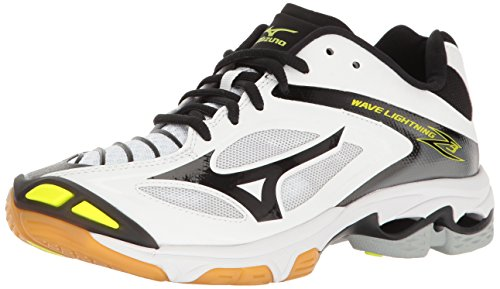 Mizuno Women's Wave Lighting Z3 Volleyball Shoe,White/Black,8 B US