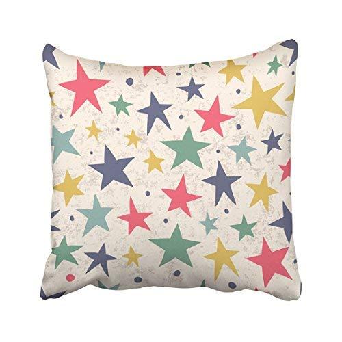 Funda de almohada decorativa para el hogar, 18 x 18 cm, diseño de circo azul con estrellas para tu diseño, colorida y abstracta, fundas de cojín de 45 x 45 cm, cuadradas decorativas para sofá, accesorio para el hogar