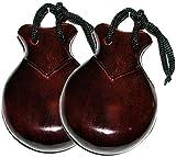 Castañuelas de Madera Color Caoba del Numero 6 sin Funda JALE 105-6 Flamenco - Rockmusic España