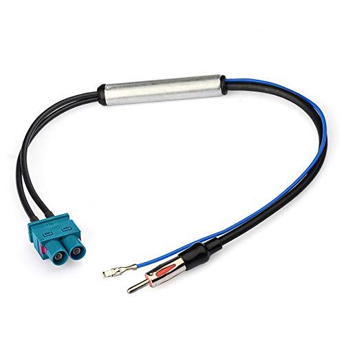 Bingfu Autoradio Antenne Signalverstärker, Doppel Fakra auf DIN Stecker Adapter mit Phantomeinspeisug Kompatibel mit Volkswagen Audi VW Skoda BMW Fahrzeug Auto Audio Radio Stereo Head Unit Empfänger