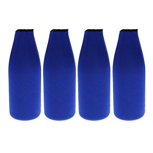 perfeclan 4 Bolsas de Neopreno con Cremallera para Enfriar Botellas, Suministros para Fiestas, Cerveza, Refrescos, Cola, Jugo, Bebidas