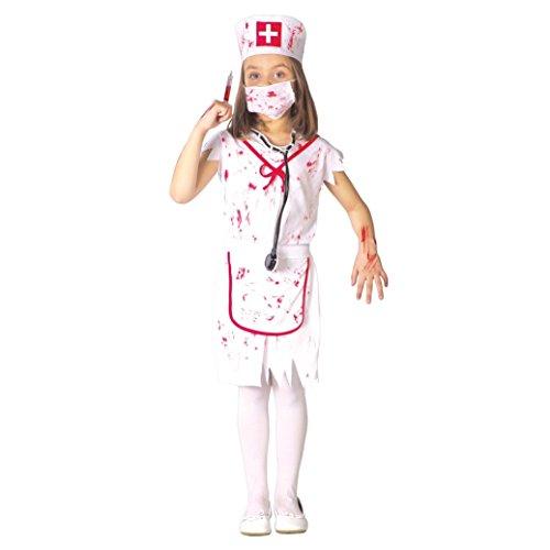 Disfraz de Enfermera Zombie (Talla 7-9 Años)