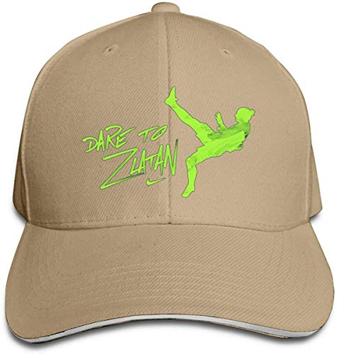 Baseball Cap Dare to Zlatan Trucker Hat Adjustable Snapback Strap Men Women,Natural,One Size
