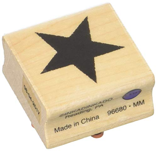 Inkadinkado Teacher Supplies Wood Star Stamp, 1.5'' W x 1.5'' L
