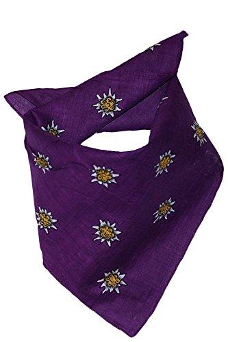 Edelnice Trachtenmode Edelnice Trachtenmode Trachten Halstuch aus Baumwolle viele (lila)