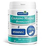 Colágeno Marino Hidrolizado y Vitamina C - 200 cápsulas