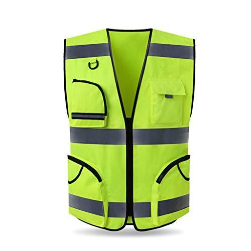 Fitnessgeräte Abnehmen Outdoor-Sicherheitsweste Technik Warnwesten Verkehr Grooming Baustelle Sicherheitsbekleidung Fluorescent Coat Wasserdicht Weste Durable