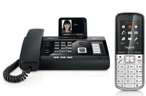 Siemens Gigaset DL500A SET mit 1x SL400H Mobilteil – analog, Anrufbeantworter, Bluetooth® ECO DECT, schwarz