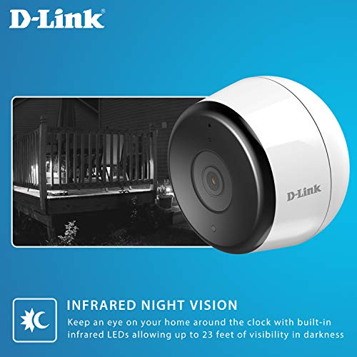 D-Link Outdoor    Security Camera Wireless Wi-Fi Home Surveillance in Full HD, Phone App Notifications, Local